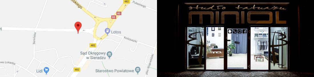 Sieradz - lokalizacja