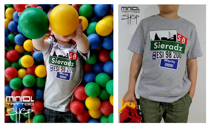 Koszulka dziecięca z motywem Sieradz