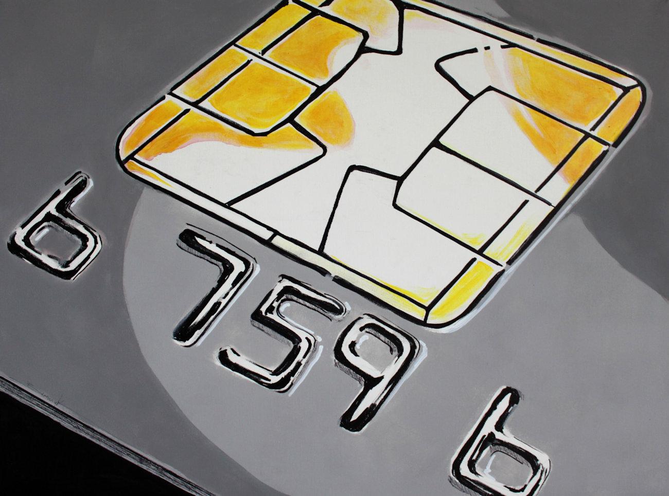 """""""666"""" akryl + flamaster na płótnie 80x60, 2011"""