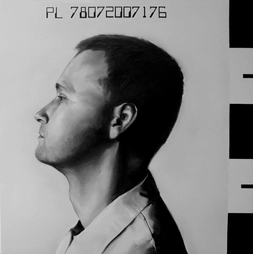 Dominik Basnyk autoportret - olej na płótnie 70x70 - 2008